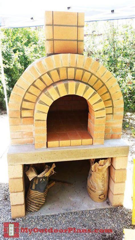 diy brick pizza oven myoutdoorplans  woodworking