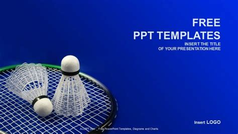 free sports powerpoint templates badminton sports powerpoint templates