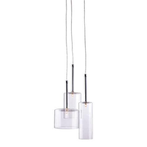 modern multi light pendants shop zuo modern lightning multi light clear glass drum