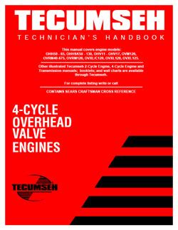 technicians handbook  cycle overhead valve engines