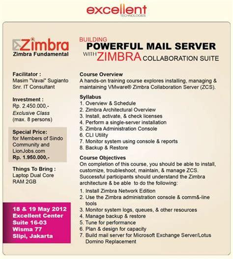 zimbra administration tutorial exclusive class zimbra mail server training wisma 77