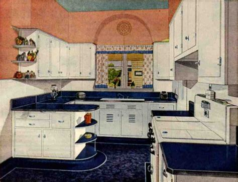 1940s Kitchen Design Retro Kitchen Design Sets And Ideas