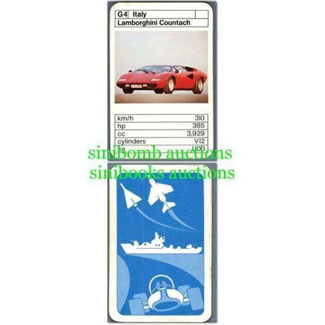 Lamborghini B12 by Lamborghini Countach Sports Cars Top Trumps Tcg Card B12