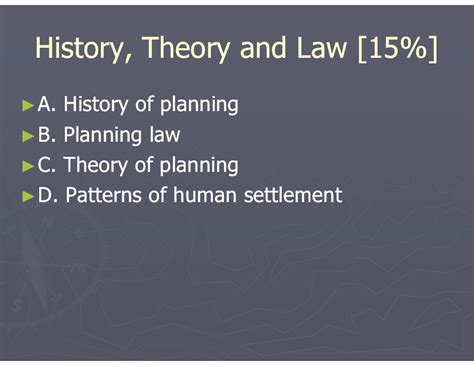 settlement pattern theory cracking the aicp