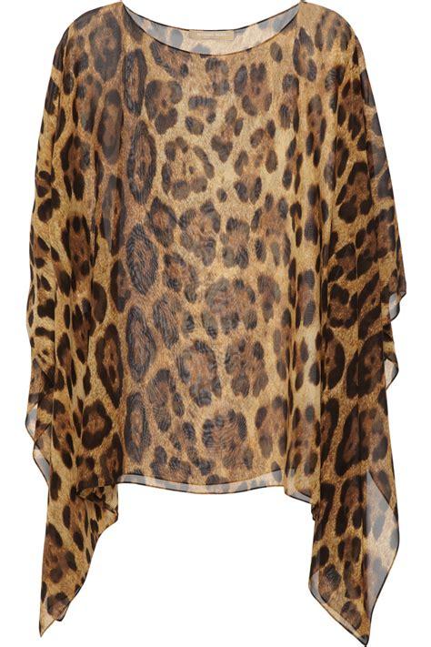Leopard Chiffon Top michael kors leopard print silk chiffon top in animal