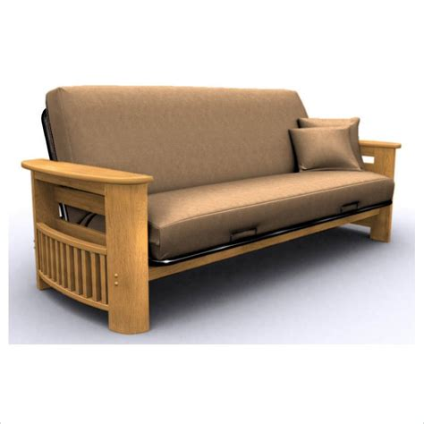 Oak Futon by Elite Products Portofino Size Oak Futon Frame Ebay