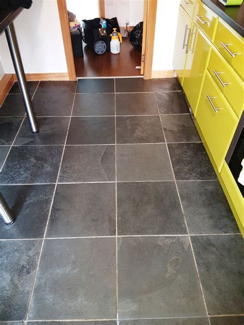 rejuvenating a slate tiled kitchen floor stone cleaning