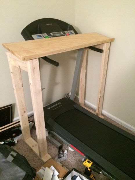Treadmill Desk Diy 132 Diy Desk Plans You Ll Mymydiy Inspiring Diy Projects