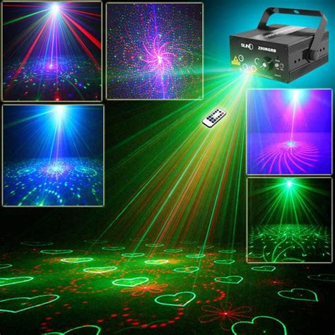 music video lighting effects 5 lens 80 patterns laser projector light and music for