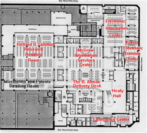 new york public library floor plan floor plan lower level the new york public library