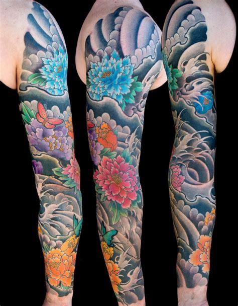 Flowers Japanese Sleeve Tattoo Slave To The Needle Japanese Floral Sleeve Tattoos