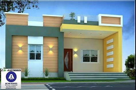 sqft single floor modern home design nandhu