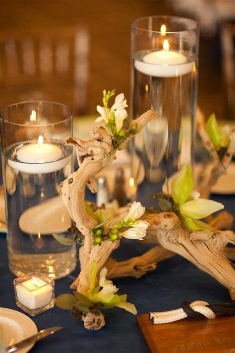 table centerpieces with candles best 25 driftwood centerpiece ideas on drift