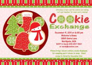 cookie invitation template cookie exchange invitation customizable printable 4x6 or