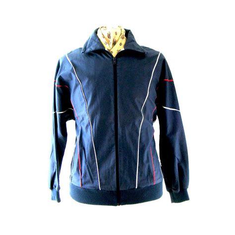 80s retro zip up jacket blue 17 vintage fashion