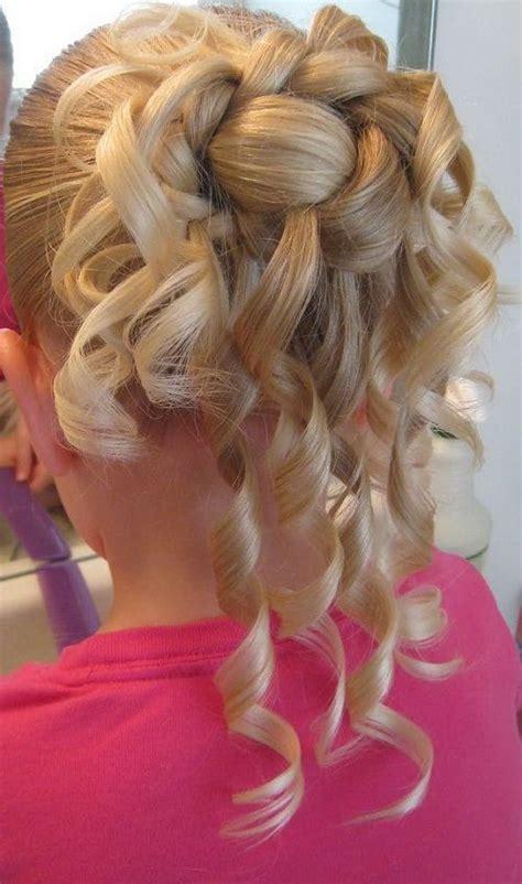 Cute Easy Hairstyles Simple Braided Flower Updo | flower girls updo hairstyles for simple and cute look