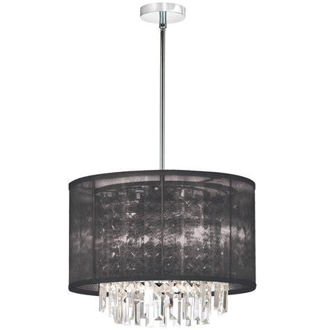 Shade Chandelier Filament Design Catherine 4 Light Halogen Polished Chrome Chandelier With Black Organza Shades