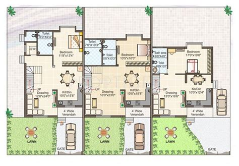 row house plans row house plans in 2000 sqft escortsea