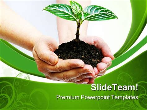 environment ppt themes free download plant in hands environment powerpoint themes and