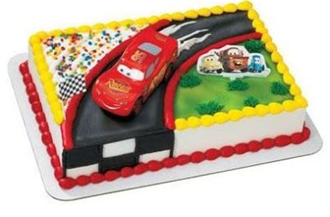 Cars Cake Decorating Kit by Cupcake Decorations Lightning Mcqueen