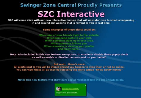swing zone central swingerzonecentral com