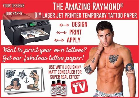 temporary tattoo with printer diy temporary tattoos laser printer paper misc