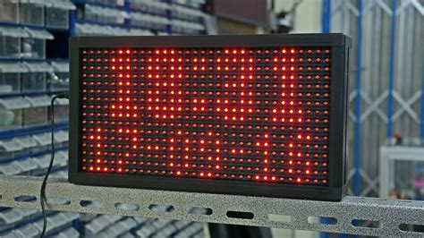 Harga Led Matrix P10 membuat jam digital led matrix p10 duwi arsana