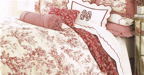 red toile bedding red toile bedding textiles i adore toile