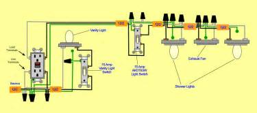 Bathroom Vent Heater Light - 6 best images of exhaust fan light switch wiring diagram bathroom electrical wiring diagram
