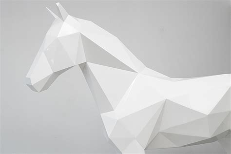 amazing geometric forms sculpted with sand my modern met stark white geometric animal sculptures by ben foster my