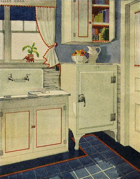 1920s kitchen design white and blue vintage 1920s kitchen design