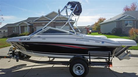 four winns boat clothing 2009 four winns h190 with wake tower extended deck nex