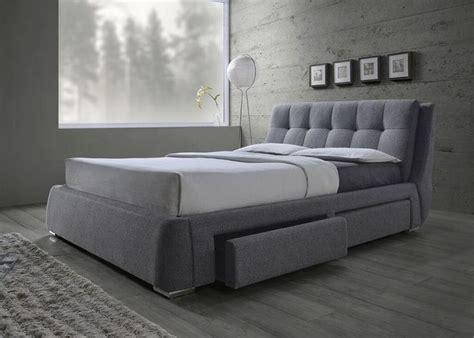 Platform Beds Gold Coast Grey Fabric Platform Bed With Storage Drawers Platform