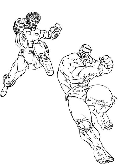 hulk fighting coloring pages the leader fight the hulk coloring pages hellokids com