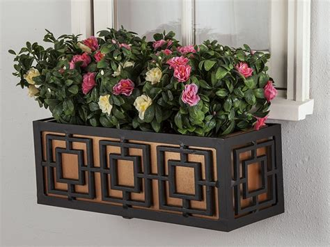 metal window box planters  small spaces windowboxcom