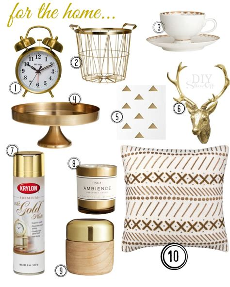 metallic home decor gold archives diy show off diy decorating and home