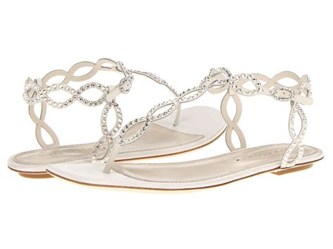 wedding shoes sandals flats lyst sergio satin mermaid flat sandal in white