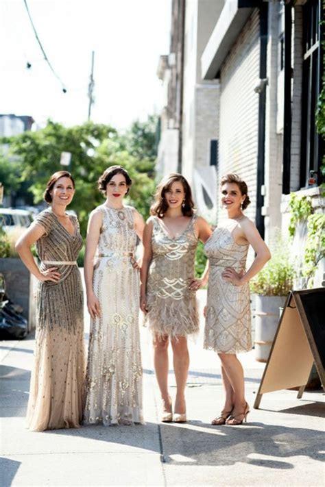 20s themed flapper wedding bridesmaids flapper wedding wedding bridesmaid dresses