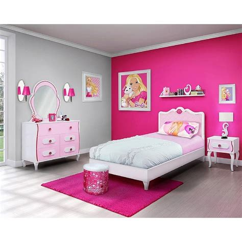 barbie beds barbie 4 piece bedroom in a box furniture set twin bed