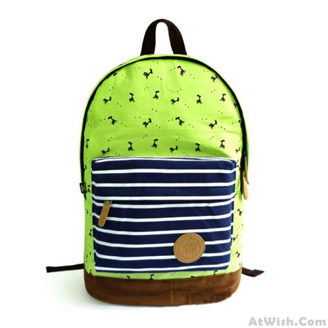Deer Print Backpack fresh deer print canvas backpack fashion backpacks