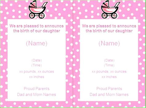sweet baby girl free pregnancy announcement template greetings
