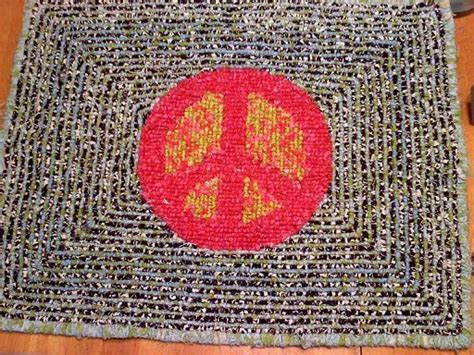peace sign rug peace sign rug locker hooking hooked rugs