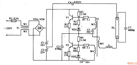 electronic choke circuit diagram for light circuit