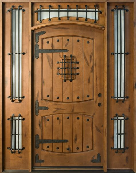 Rustic Custom Front Entry Doors Custom Wood Doors From Custom Exterior Wood Doors