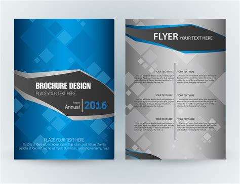 Flyer Template Design With Squares Vignette Style Free Vector In Adobe Illustrator Ai Ai Adobe Illustrator Flyer Template