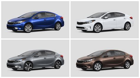 Kia Forte Colors 2017 Kia Forte Exterior And Interior Color Options Lx S