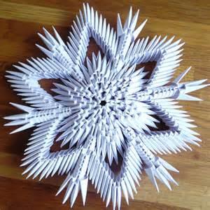 3d Snowflake Origami - 3d origami sneeuwvlok nr 2