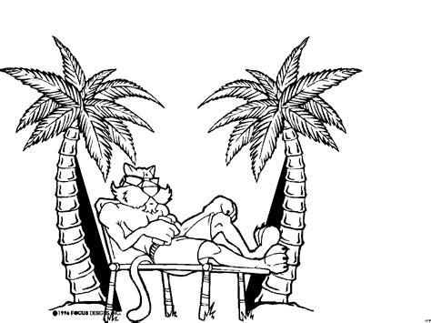 katze  strand ausmalbild malvorlage comics