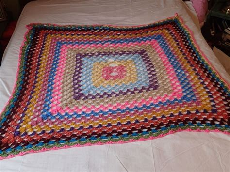 vintage pattern throw amazing vintage homemade multi color afghan blanket throw