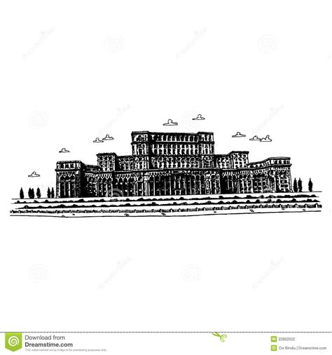 The Palace Of The Parliament   Bucharest, Romania Stock